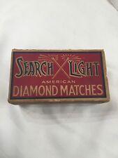 Vintage Searchlight Diamond Matches Box. Just Box, No Matches!