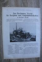 Werbung 1910-30 Bochum i Westf Verein f Bergbau u Gußstahlfabrikation Fabrik uvm