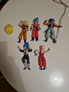 DragonStars DBZ Saiyan bundle- 6 inch figures (Gogeta, goku, krillin, vegeta)