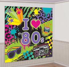 années 80 ans raum-dekoration Jeu de 2 NEUF - accessoires fête décoration