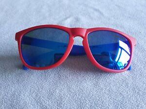 Sungod Classics polarized mirror sunglasses in blue/ red. SG0315-01.