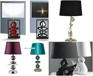 Contemporary stylish Ceramic  table lamp and Shade 7 Types to Choose from