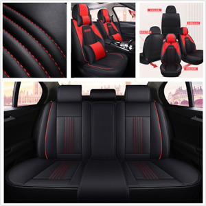 Deluxe Edition PU Leather Seat Cover Mat Surround Fit For Standard 5-Seats Car