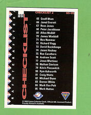 1995 AUSTRALIAN BASEBALL CARD #109  CHECKLIST 2