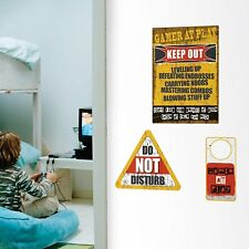 GAMER Wall Decals Bedroom Signs Room Decor Stickers DO NOT DISTURB VIDEO GAMES