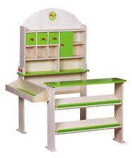 Wooden Kids Supermarket Store Food Pretend Play Set Cash Shopping Market Toys