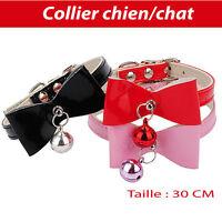 Collier pour chien et chat petit nœud avec grelots réglable accessoire