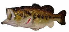 Chainsaw Carving Bass Carved Fishing Man Cave Wall Art Rapala Zebco Fish 14172