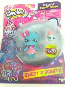 Shopkins Wild Style Exclusive Fluffy Sweetie Scents Shoppet & Shopkin