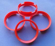 (Z11D) 4x Zentrierringe 72,6 / 67,1 mm orange für Alufelgen