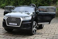 Lizenz Kinderauto Audi Q7 2x 35W 2X6V 2.4Gh RC S-line Quatro LEDERSITZ radio