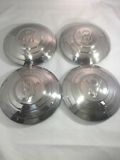 1932 Ford Car Stainless Hubcap V8 With 3 Raised Rings Set 4 Hot Rod Rat Rod
