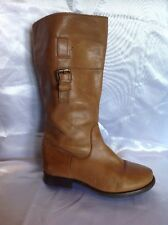 Girls Zara Brown Leather Boots Size 28