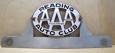 Old AAA Reading Auto Club - Pennsylvania Motor Federation License Plate Topper