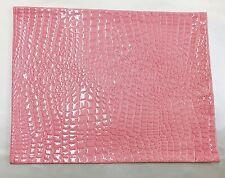"2 pieces Faux vinyl, Pink crocodile, pillow 18""x 18"" W/ zipper 2 pillow insert"