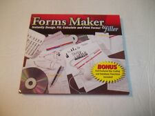 Forms Maker & Filler - Design Calculate Print Documents Purchase Orders PC NEW