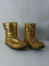 Womens Ugg Boots Gold Sequin Size 11