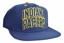 MEN'S HAT EMBROIDERED TEAM NAME NBA INDIANA PACERS CAP NAVY YELLOW