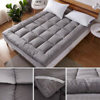"""3.9"""" Thick Mattress Pads Pillow Top Bedding Quilted Soft Fluffy King Queen Full"""