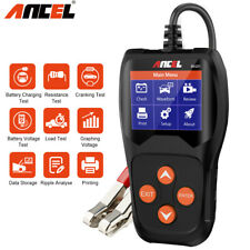12V Car Battery Tester Analyzer 100-2000CCA Loading Quick Cranking Charging Tool