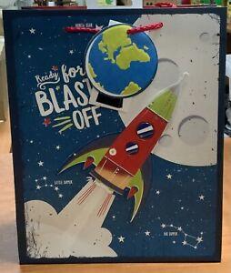Boys Gift Bag. Space Activity. 3D