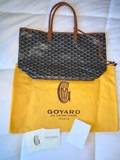 NO RESERVE Authentic Goyard Goyardine St Louis MM Tote Black And Brown