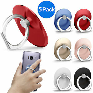 5x Universal 360° Rotating Finger Ring Cell Phone Holder Stand Car for iPhone LG