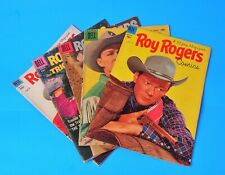 Nice Vintage Lot 5 Roy Rogers Comic Book 1953, 1957 and 1958