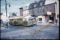 Philadelphia Trolley PTC 1960s 35mm Slide Kodachrome Street Scene Lone Star Gas