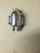 Mini HTC Android Weighted Chrome Robot Key Chain *NEW*