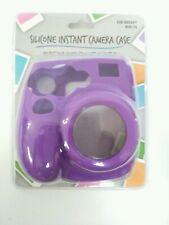 Silicone Case For FUJIFILM Instant Mini 7S Camera  Purple Instax Bonus Included