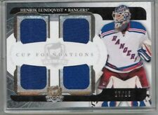 11/12 Upper Deck The Cup Henrik Lundqvist Cup Foundations Quad Jersey #'ed 17/25