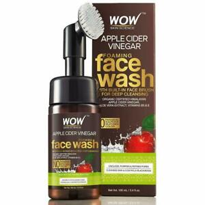 WOW Skin Science Apple Cider Vinegar Face Wash Foaming With Built in Brush 100ML