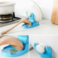 Pot Pan Cover Spoon Stand Holder Cooking Tools Rack Utensil Shelf Kitchen Wave