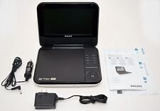 "Philips PD700/37 7"" White Portable DVD Player Movies Car Trip Entertainment inch"