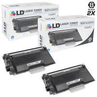 LD Compatible TN880 Black Toner Super HY Set of 2 for Brother DCP-L6600 HL-L6200