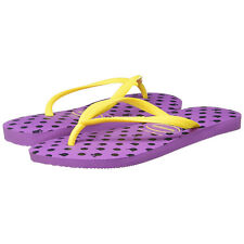 Havaianas Slim Fresh Womens 11 12 Flip Flop Sandal Purple Yellow Brazil
