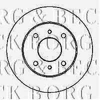 BBD4521 BORG & BECK BRAKE DISC PAIR fits Mitsubishi Grandis 04/04- NEW O.E SPEC!