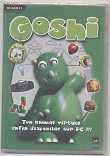 NEUF JEU PC GOSHI ANIMAL VIRTUEL pour Windows SOUS BLISTER ADOPTE NOURROS EDUQUE