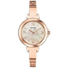 Bulova Women's 97L137 Rose Gold Mother of Pearl Dial Dress Watch