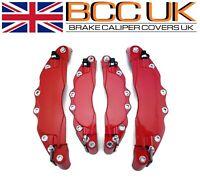 RED Aluminium Brake Caliper Covers DIY Kit NO Logo Front Rear 4pcs M+S Universal