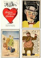 LEPARELLO PULL OUT FANTASY Incl. HUMOR 69 Vintage POSTCARDS Mostly pre-1940