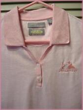 GREG NORMAN ~ Sleeveless Knit Top (M) Pink & White Stripe ~ Starr Pass GC logo