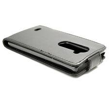 Magnetic Flip Full Black Leather Hard Cover Case Skin For LG Leon 4G LTE H340N