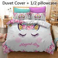 Hot Magical Unicorn Kids Bedding Set Duvet Cover Set Comforter Cover Pillowcase