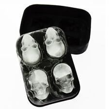 Halloween Silicone 3D Ice Ball Cube Tray Skull Shape Mold Chocolate Baking Tool