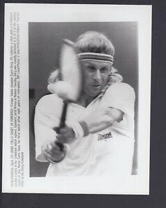 Bjorn Borg 1991 Comeback Match Monte Carlo Open 7x9 Glossy AP Photo w/ caption
