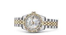 Analoge Rolex Armbanduhren mit Datumsanzeige für Damen