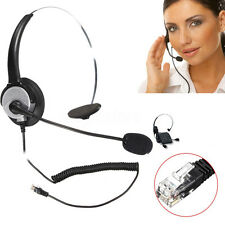 RJ11 Monaural Operator Call Center Telephone Headset Headphone Noise-cancelling