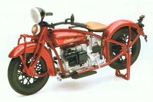 Indien Quatre 1930 Métallique Rouge, NewRay Moto Modèle 1:12